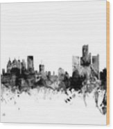 Detroit Michigan Skyline Wood Print