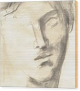 Drawing Of Ancient Sculpture Wood Print