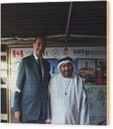 Dubai Travelers Festival Wood Print