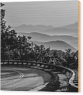 Early Morning Sunrise Over Blue Ridge Mountains Wood Print