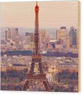Eiffel Tower At Sunrise - Paris Wood Print