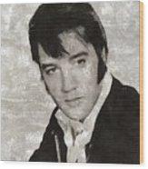 Elvis Presley, Legend  Wood Print