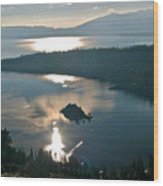 Emerald Bay Lake Tahoe Wood Print