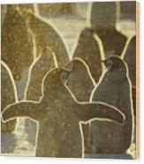 Emperor Penguin Aptenodytes Forsteri Wood Print