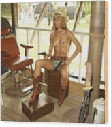Everglades Cowgirl Wood Print