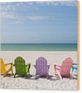 Florida Sanibel Island Summer Vacation Beach Wood Print