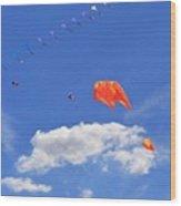 Flying Kite Festival  Wood Print