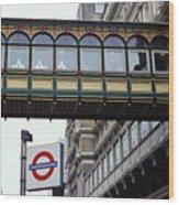 Footbridge In Central London Wood Print