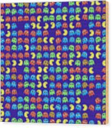 Game Monsters Seamless Generated Pattern Wood Print