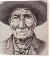 Geronimo Wood Print
