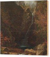 Glen Ellis Falls Wood Print