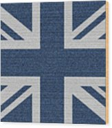 Great Britain Denim Flag Wood Print