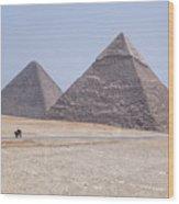 Great Pyramids Of Giza - Egypt Wood Print