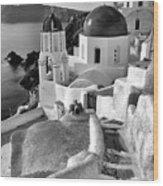 Greek Island - Santorini Wood Print