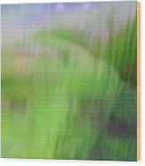Green Landscape Abstract Wood Print
