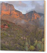 Guadalupe Mountains Sunrise Wood Print