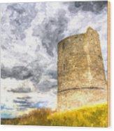 Hadleigh Castle Art Wood Print