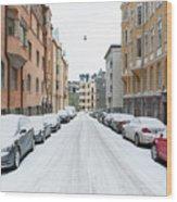 Helsinki At November Wood Print