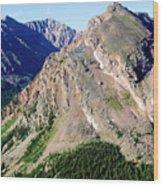 Hiking The Mount Massive Summit Wood Print