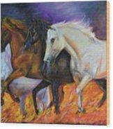 4 Horses Of The Apocalypse Wood Print
