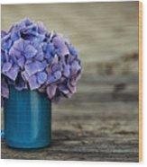 Hortensia Flowers Wood Print