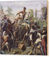 India: Sepoy Mutiny, 1857 Wood Print