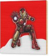Iron Man Collection Wood Print
