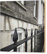 Iron Railings Detail  Wood Print
