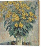 Jerusalem Artichoke Flowers Wood Print