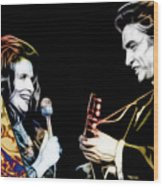 June Carter And Johnny Cash Collection Wood Print