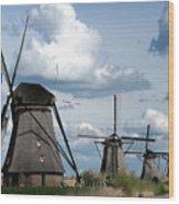Kinderdijk Windmills Wood Print