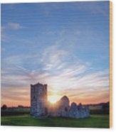 Knowlton Church - England Wood Print