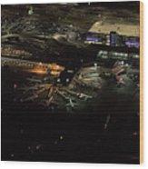 Laguardia Airport Aerial View Wood Print