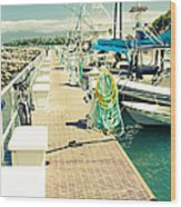 Lahaina Harbor Maui Hawaii Wood Print
