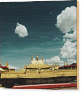 Lhasa Jokhang Temple Fragment Tibet Artmif.lv Wood Print