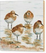 4 Little Pipers Wood Print