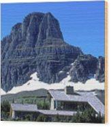 Lodge In Glacier National Park Wood Print