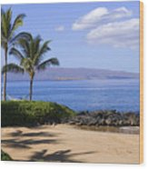 Makena, Secret Beach Wood Print