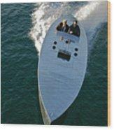Mercury Race Boat Wood Print