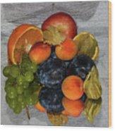 Multicolor Fruits Wood Print