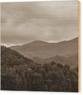 Nature Landscapes Around Lake Santeetlah North Carolina Wood Print