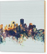 New Orleans Louisiana Skyline Wood Print