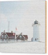 Nobska Light House Wood Print