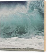 North Shore Wave Wood Print by Vince Cavataio - Printscapes