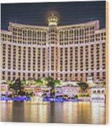 November 2017 Las Vegas Nevada - Scenes Around Bellagio Resort H Wood Print