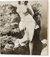 Nude Posing, C1900 Wood Print