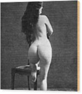 Nude Posing: Rear View Wood Print