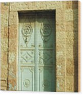old suburb in Jerusalem. Wood Print