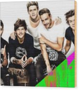 One Direction Collection Wood Print