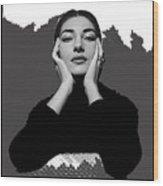 Opera Singer Maria Callas No Date-2010 Wood Print